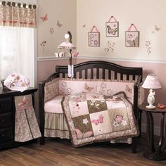 NIP COCALO BABY 6 pc Crib Bedding Set Mia Rose Pink Butterfly | eBay