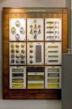 Door Furniture display from our showroom   http://www.banham.co.uk/doors/