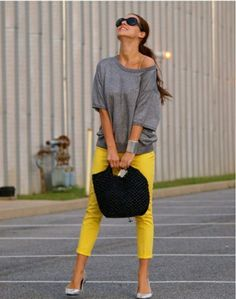Sarı bayan pantolon