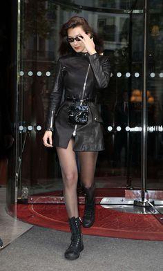 Bella Hadid leaving her hotel in Paris Dope Outfits Bella Hadid hotel leaving Paris Bella Hadid Outfits, Bella Gigi Hadid, Bella Hadid Style, Outfit Essentials, Legging Outfits, Dope Outfits, Fashion Outfits, Womens Fashion, Fashion Weeks