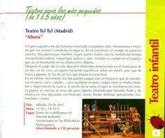 """Teatro Tyl Tyl (Madrid). """"Ahora"""". Teatro para los más pequeños (de 1 a 5 años). Abril 2010"""