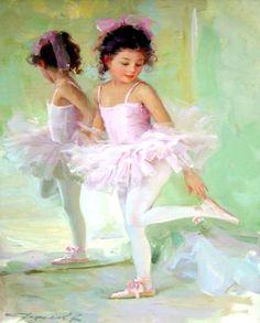 Ballerina Oil Painting | ballet oil painting 134 ballet oil painting 137 animal oil. Love that little girl.