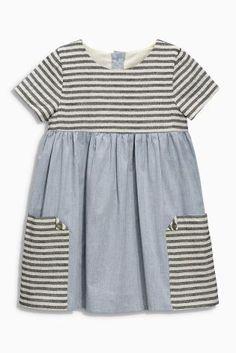 Buy Denim Stripe Pocket Dress months – 6 years) in the Next UK online shop – KinderMode Little Dresses, Little Girl Dresses, Girls Dresses, Fashion Kids, Girl Fashion, Fashion 2020, Mens Fashion, Fashion Design, Fashion Trends