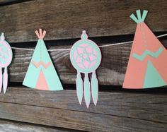 Teepee banner teepee bunting wild one party por PaperSparkleDesigns