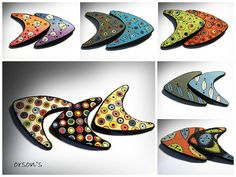 broches using Melanie Muir boomerang templates by Orson's World, via Flickr