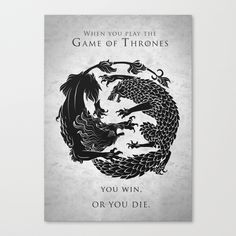 Game Of Thrones Stretched Canvas by Amy Staple   Society6