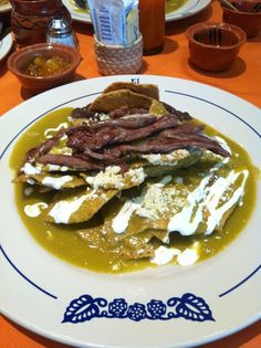 Chilaquiles, typical Mexican breakfast