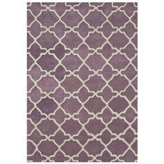 Alliyah Handmade Lilac New Zeeland Blend Wool Rug (8' x 10') | Overstock.com