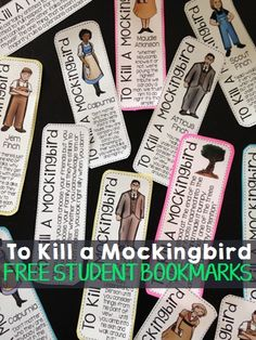 Print out these FREE bookmarks for your students, as you read the novel, To Kill a Mockingbird.