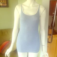 """Selling this """"Blue & white striped ribbed tank"""" in my Poshmark closet! My username is: rxdaughtet. #shopmycloset #poshmark #fashion #shopping #style #forsale #J. Crew #Tops"""