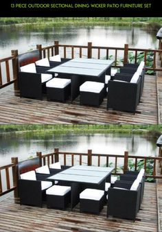 13 Piece Outdoor Sectional Dining Wicker Patio Furniture Set #kit #plans #furniture #parts #drone #racing #shopping #tech #camera #fpv #gadgets #products #technology #13 #piece #patio