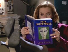 Dana Scully Reading From Outer Space