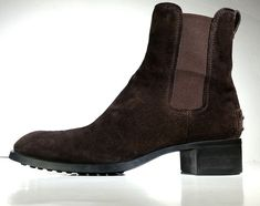$725 TOD'S BOOTS 7.5 Brown Suede Ankle Boots Made in Italy *LOVELY* Womens 7.5 #Tods #AnkleBoots