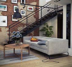 Mieszkanie z antresolą Aranżacja mieszkania w kamienicy stylizowana na loft | Studio A&W