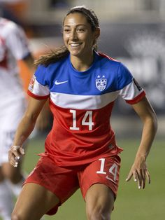 Christen Press  vs. Costa Rica, CONCACAF championship, Oct. 26, 2014. (Mitchell Leff/Getty Images North America)