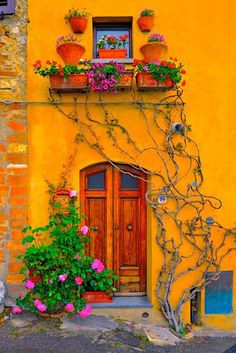 Vivid wonders! This is the color I would love the house to be outside[ MexicanConnexionForTile.com ] #spanishstylehouse