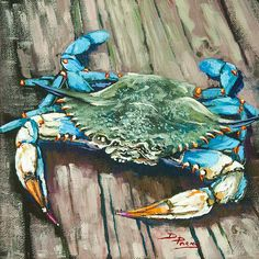 Beautiful blue crab. Reminds me of crabbing on the jersey shore as kid