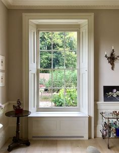Classic Homes Adam Architecture Bighton Grange -George Saumarez Smith drawing room window detail garden