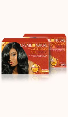 Argan Oil Relaxer provides advanced straightening performance and Exotic Shine™ to relaxed hair. Hydrate and strengthen your hair all in one application.