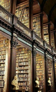 For Reading Addicts - The Long Room at Trinity Library, Dublin More info - http://bit.ly/1IWW2ej