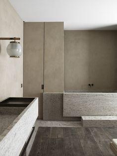 Greige moments / AD intérieurs 2018 on Behance Bad Inspiration, Bathroom Inspiration, Bathroom Inspo, Bathroom Ideas, Bathroom Trends, Bathroom Interior Design, Home Interior, Restroom Design, Interior Architecture