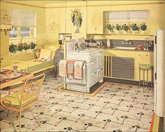 8 Bold Clever Tips: Vintage Home Decor Living Room Interior Design vintage home decor store apartment therapy.Vintage Home Decor Store Apartment Therapy vintage home decor romantic curtains.Vintage Home Decor Farmhouse Wire Baskets. Shabby Chic Vintage, Vintage Room, Vintage Kitchen, Vintage Decor, 1940s Kitchen, 1940s Decor, Vintage Homes, French Vintage, Layout Design