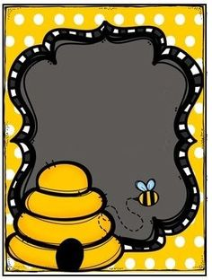 Black and yellow bee frame Más Bee Crafts, Diy And Crafts, Paper Crafts, Bee Clipart, Spelling Bee, Bee Party, Borders For Paper, Bee Theme, Bees Knees