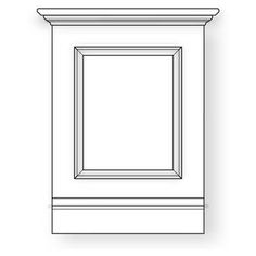 raised panel wainscoting. I like this design, but rather than raised panel, the panel would be recessed with trim framing the inside.