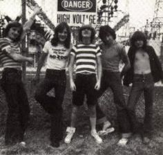 AC/DC old pic 70's with Bon Scott