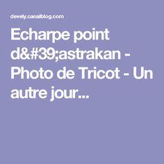 Echarpe point d'astrakan - Photo de Tricot - Un autre jour...