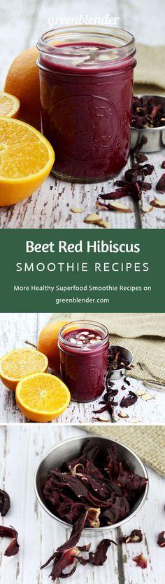 Red beetroot hibiscus smoothie