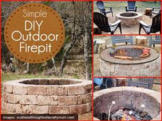 Who Wants A Simple Outdoor Firepit