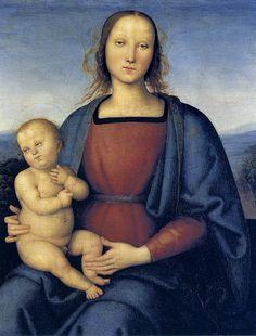 Madonna with child (1500) PERUGINO Pietro di Cristoforo Vannucci, noto come il Perugino o come Pietro Perugino (Città della Pieve, 1448 circa – Fontignano, 1523)   #TuscanyAgriturismoGiratola