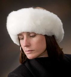 A fur headband from the Crystal Lake Alpaca Boutique - it looks beautiful on anyone!! Comes in white and fawn.