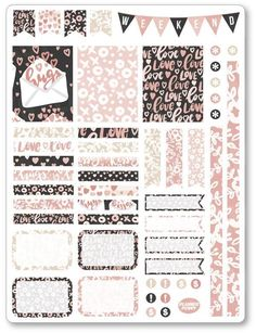 """One 6"""" x 8"""" sheet of planner stickers cut and ready for use in your planner, calendar, or scrapbook!Please see the FAQ tab for information on sticker material a #ScrapbookFAQs"""