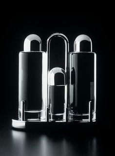 design-is-fine: Ettore Sottsass, Menage 5070, condiment set, Archivio Alessi. Simply italian.