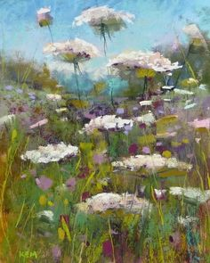 Monday Pastel Demo...Queen Anne's Lace, painting by artist Karen Margulis