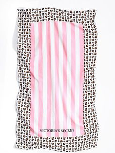 Beach Towel Pink Stripped Victoria's Secret $48