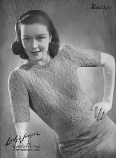 The Vintage Pattern Files: Free 1940's Knitting Pattern - Munrospun Knitting Book