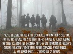 Band of Brothers - I pinned this to my where I've been board because band of brothers is what my combat aircrew (CAC) in the Navy likes to call ourselves while on deployment.