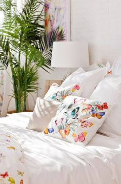 Decoración con Mariposas-ropa de cama