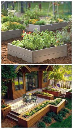 17 DIY Garden Ideas - Vegetable and container gardens #iffygarden #garden #garden ideas