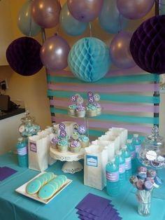 purple blue party