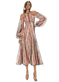ideas for fashion drawing vintage sewing patterns Fashion Design Sketchbook, Fashion Design Drawings, Fashion Sketches, Drawing Fashion, Moda Fashion, Trendy Fashion, Fashion Art, Vintage Fashion, Fashion Sewing