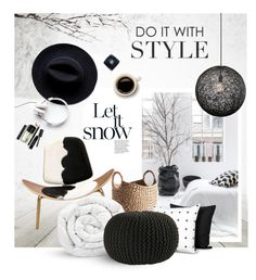 """""""Winter home"""" by magdafunk ❤ liked on Polyvore featuring interior, interiors, interior design, home, home decor, interior decorating, Pom Pom at Home, Amara, BoConcept and Brinkhaus"""