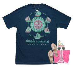 """when you love southern shirts but are not from the south...."" by mehanahan ❤ liked on Polyvore featuring Ray-Ban, Jack Rogers, Karen Kane, Benefit and Kendra Scott"