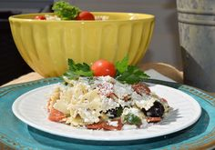 Springtime is here! All the beautiful colors and flavor in this Pasta Salad with Artichoke Hearts & Feta pair perfect as a side to any springtime meal.