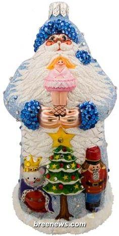 The Nutcracker Ballet:  Patricia Breen's Tchaikovsky Santa  Christmas Ornament  Decoration