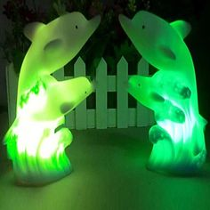 Coway Double Dolphin Colorful LED  Night Light  – USD $ 2.99