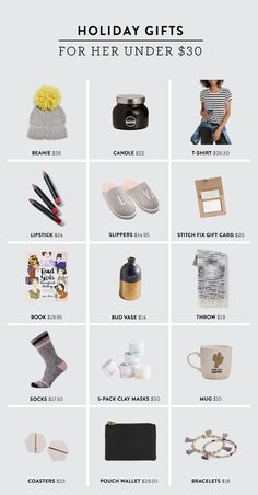 These fun and inexpensive items are the perfect gifts for her under $30. Treat the women in your life with one of these thoughtful gifts without breaking the bank!